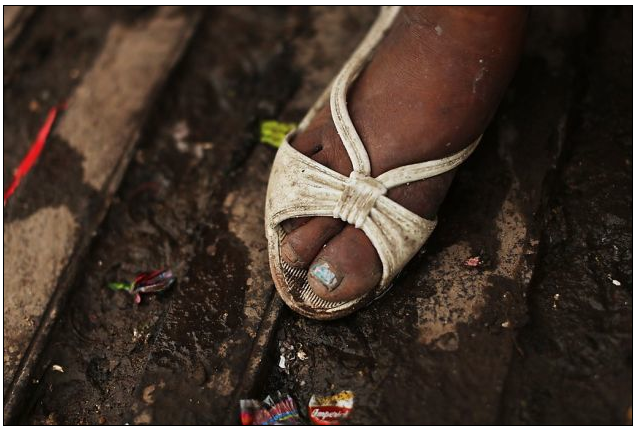 The Shoe of a Prostituted Woman in Tegucigalpa, Honduras